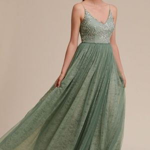 NWT BHLDN CLUNY DRESS AQUA MIST